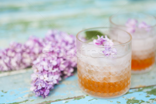 Lilac lemonade water with flowers Stock photo © dashapetrenko