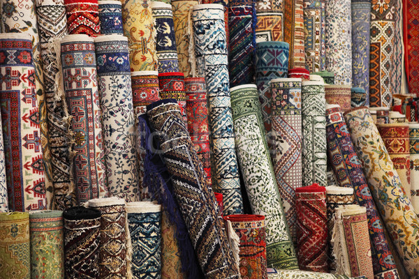 Colorful carpets in the store Stock photo © dashapetrenko