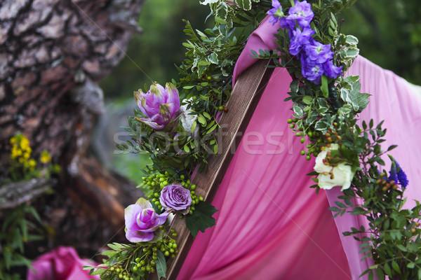 Сток-фото: романтические · украшение · горные · свадьба · гор