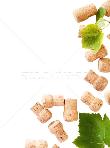 Dated wine bottle corks on the white background Stock photo © dashapetrenko