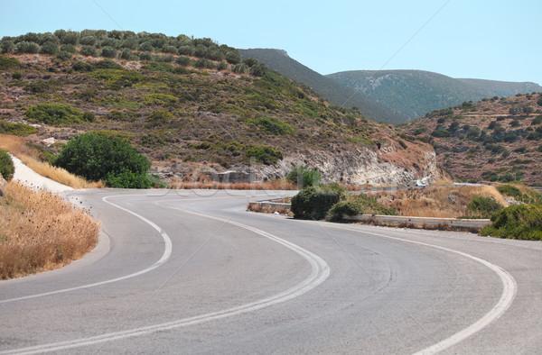 Picturesque road landscape. Crete, Greece Stock photo © dashapetrenko