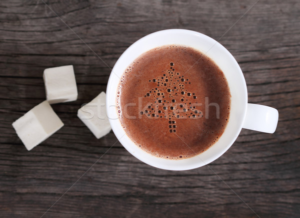 Mug of hot chocolate or cocoa with marshmallows  Stock photo © dashapetrenko