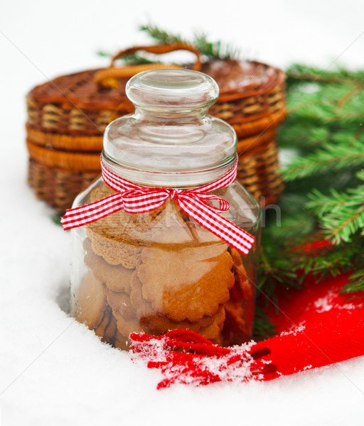 Christmas still life with a Christmas cookies Stock photo © dashapetrenko