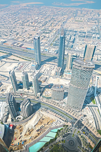 UAE. Aerial view from the height of Burj Khalifa  Stock photo © dashapetrenko