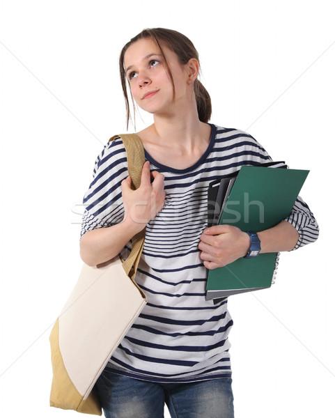 Teenager schoolgirl with textbooks  Stock photo © dashapetrenko