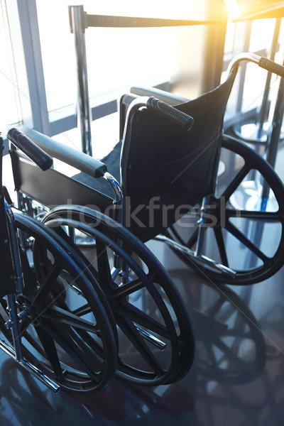 Wheelchairs for the disabled. Vertical shot Stock photo © dashapetrenko
