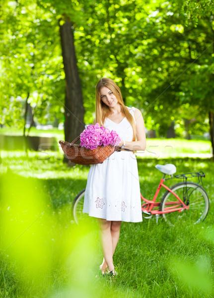 ストックフォト: 美しい · ブロンド · 女性 · 着用 · いい · ドレス