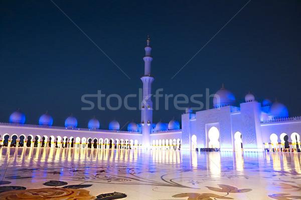 мечети ночь Объединенные Арабские Эмираты Абу-Даби небе поклонения Сток-фото © dashapetrenko