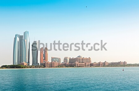 Emirates Palace and skyscrapers of Abu Dhabi Stock photo © dashapetrenko