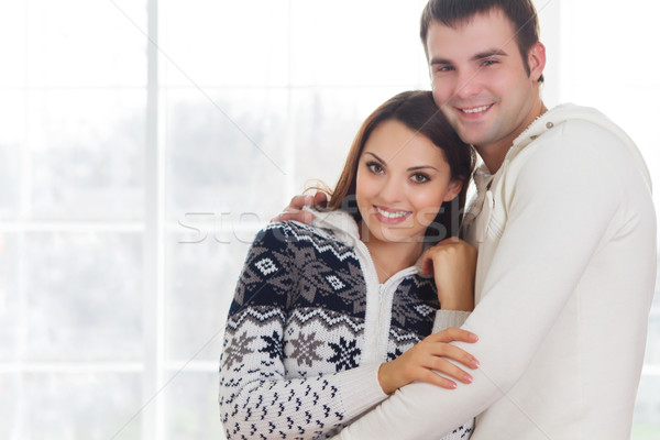 Couple at home  Stock photo © dashapetrenko