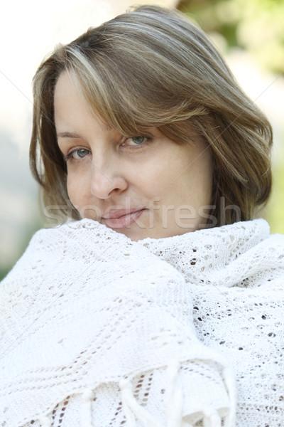 Woman in white Stock photo © dashapetrenko