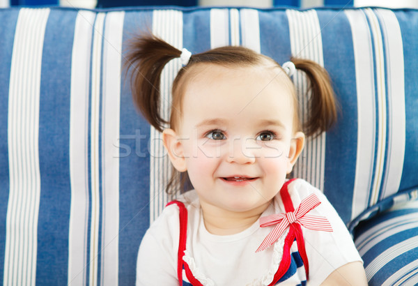 портрет один год ребенка счастливым Сток-фото © dashapetrenko