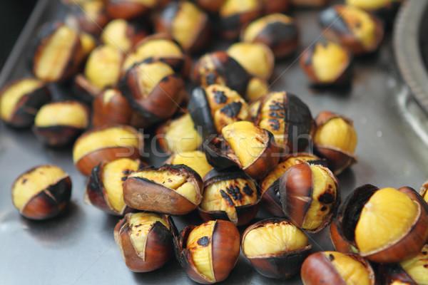 Grilled chestnuts Stock photo © dashapetrenko