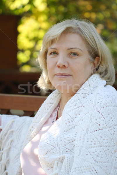 Stock photo: Portrait in an arbour