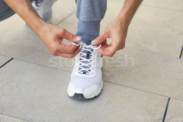 Hombre zapatillas entrenamiento fitness Foto stock © dashapetrenko