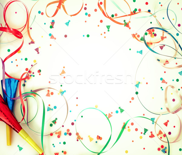 Stock photo: Confetti on retro background