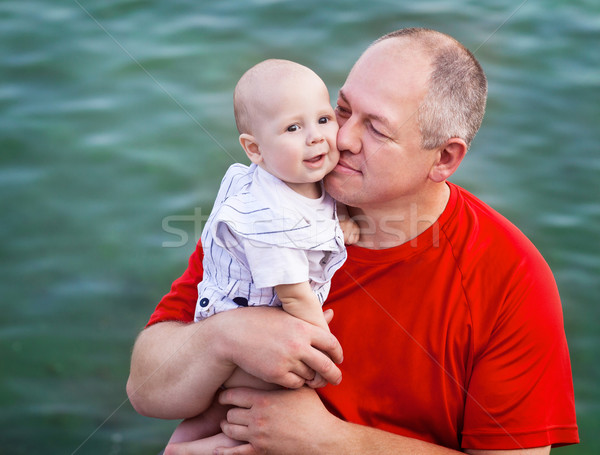 Middle age father and his little son Stock photo © dashapetrenko