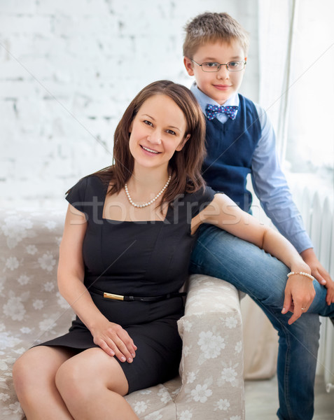 Mother and son embracing each other Stock photo © dashapetrenko
