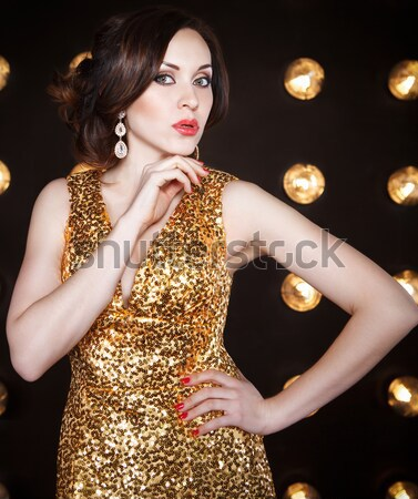 Beautiful woman in evening dress Stock photo © dashapetrenko