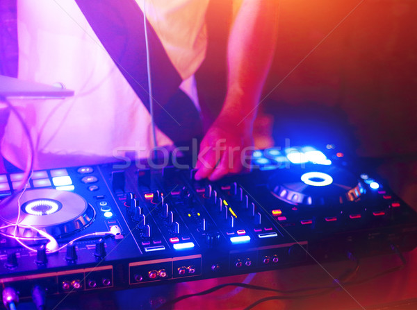 Seguir boate festa mãos clube prato giratório Foto stock © dashapetrenko