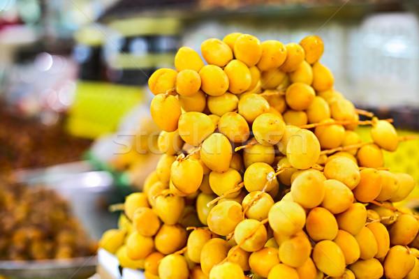 Dates on open air arabian market Stock photo © dashapetrenko