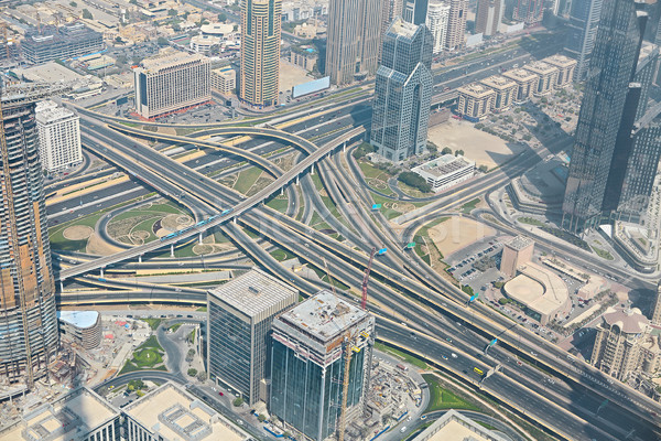 Dubai, UAE. Aerial view from the height of Burj Khalifa  Stock photo © dashapetrenko