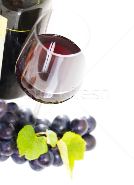 Glass of a red wine isolated on white Stock photo © dashapetrenko
