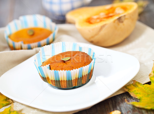 Pumpkin muffins with seeds and pumpkin  Stock photo © dashapetrenko