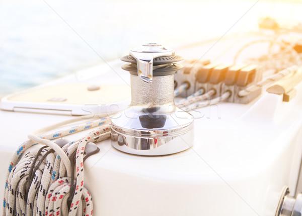 Voilier détaillée corde yacht Photo stock © dashapetrenko