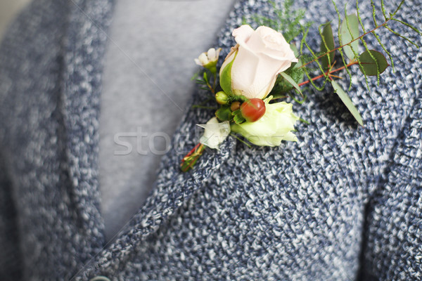 Zacht bruidegom rozen kralen bloem Stockfoto © dashapetrenko