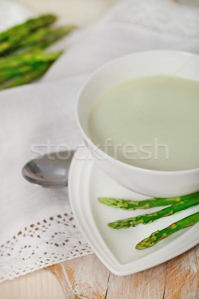 Asparagus soup in a soup bowl  Stock photo © dashapetrenko