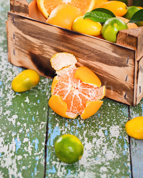 Fresh citrus fruits  Stock photo © dashapetrenko