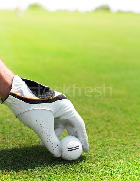 Homme balle de golf main sport Photo stock © dashapetrenko