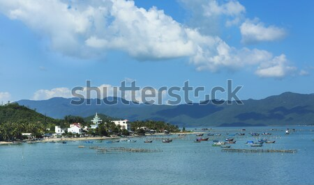 Fishing boats in the sea in Vietnam, Asia Stock photo © dashapetrenko