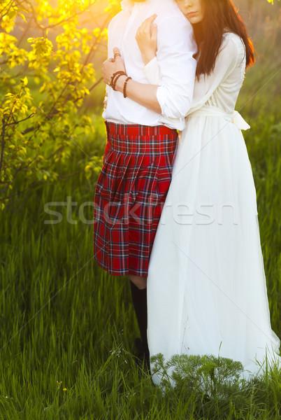 Zdjęcia stock: Młodych · szczęśliwy · para · wraz · strony · wygaśnięcia