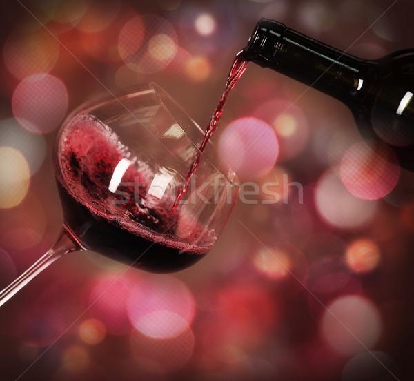 Red wine Stock photo © dashapetrenko