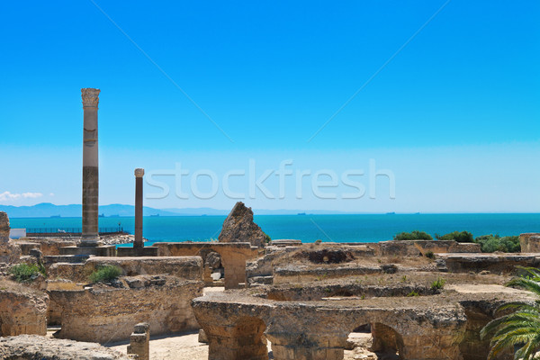 Ruins of Antonine Baths at Carthage Stock photo © dashapetrenko