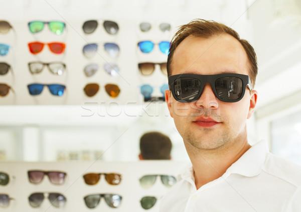 человека новых Солнцезащитные очки портрет бизнеса счастливым Сток-фото © dashapetrenko
