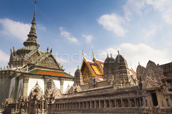 Tempio smeraldo Thailandia dettagli costruzione foglia Foto d'archivio © dashapetrenko