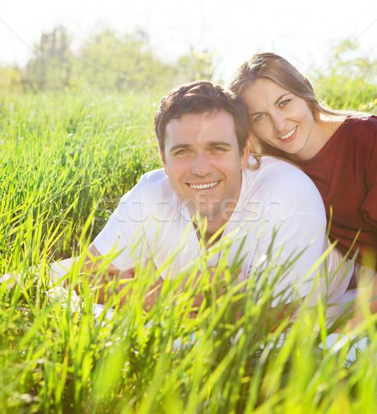 Jeunes heureux couple amour printemps jour Photo stock © dashapetrenko