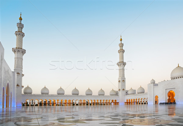 Sheikh Zayed Mosque in the evening. United Arab Emirates  Stock photo © dashapetrenko