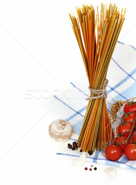 Italiano pasta cocina ingredientes espaguetis ajo Foto stock © dashapetrenko