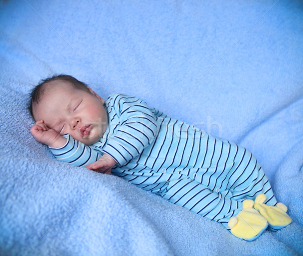 Peaceful baby sleeping Stock photo © dashapetrenko