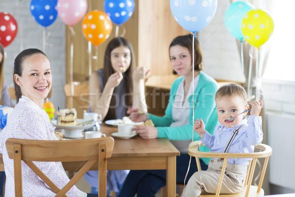 Festa di compleanno piccolo baby ragazzo famiglia amore Foto d'archivio © dashapetrenko