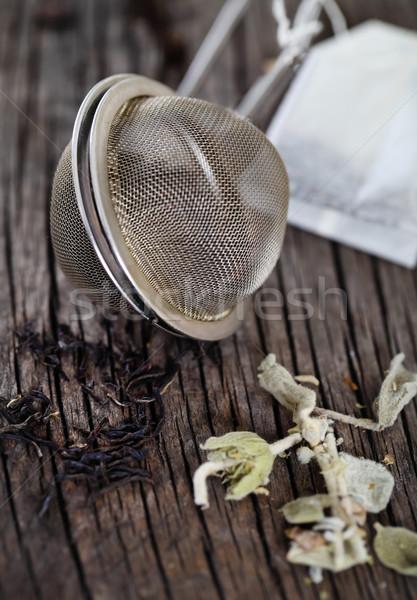 Black and herbal tea Stock photo © dashapetrenko