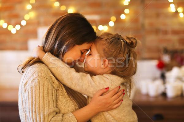 красивая женщина дочь мало девушки Сток-фото © dashapetrenko