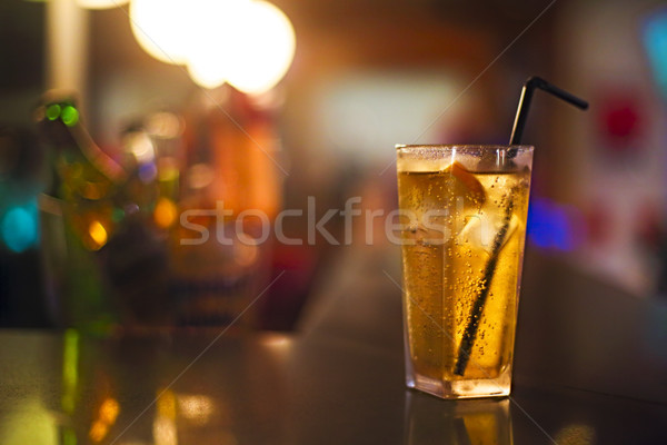 Cocktail vetro bar counter discoteca frutta Foto d'archivio © dashapetrenko