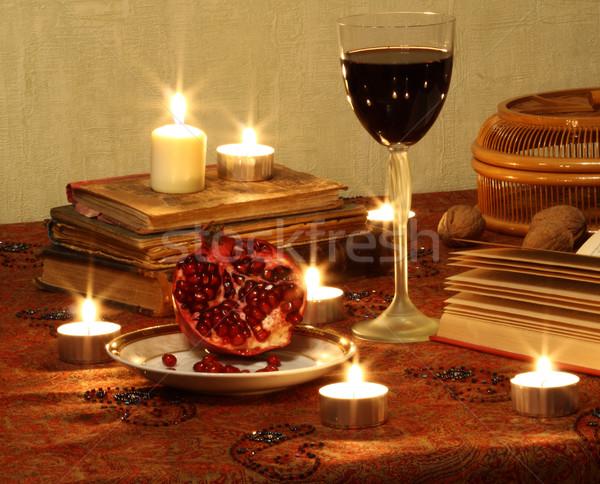 Still life with red wine Stock photo © dashapetrenko