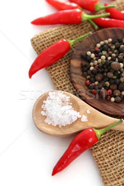épices blanche espace de copie vert salade cuisson Photo stock © dashapetrenko