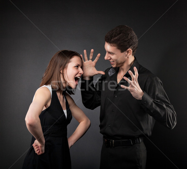Conflict situation between couple Stock photo © dashapetrenko